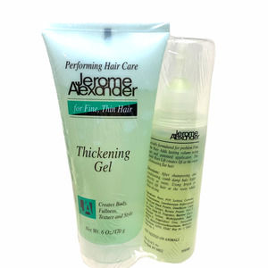 New JEROME ALEXANDER Hair Care Thickening Gel & Hydragel Root Lift Fine Thin
